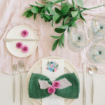 This playful napkin folding technique, shaped like a bow tie, works well for all entertaining events from birthday parties to baby showers.