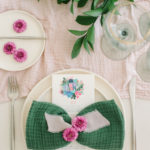 The bow tie, a stylish napkin folding idea, can be dressed up or down.