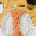 The Modern Twist napkin style is a simple way to mix up the traditional.