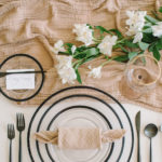 This napkin fold, shaped like a Candy Roll, is playful and lighthearted and could work at a child's birthday party, yet can look perfect for an elevated dinner party when paired with the right pieces.