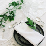 This Angled Single Pocket Napkin Fold is clean and classic and complements this place setting beautifully.