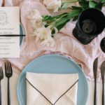 This Envelope napkin fold adds a sophisticated touch to the tablescape.