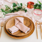 This Geometric Knot is a stylish napkin folding idea perfect for a romantic table setting.
