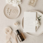 Wedding details for two brides include their jewelry and perfume.