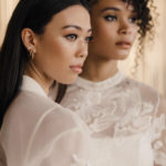 Two stylish brides bring their own distinctive style to their bridal looks.